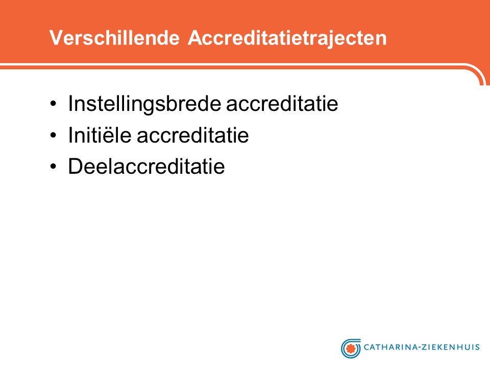 Verschillende Accreditatietrajecten