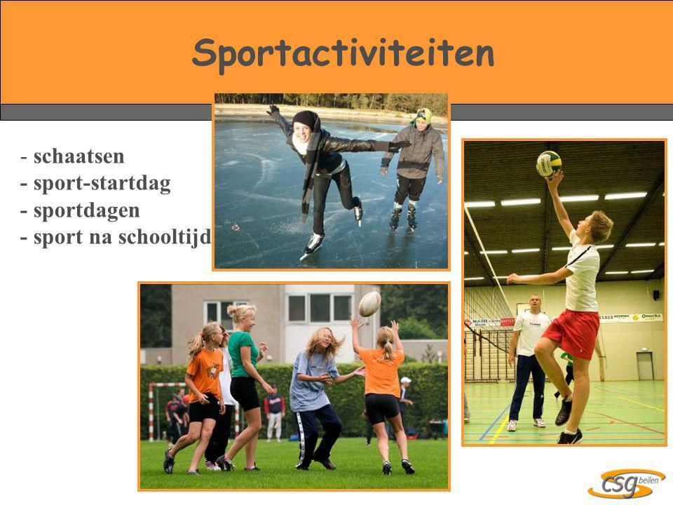 Sportactiviteiten schaatsen - sport-startdag - sportdagen - sport na schooltijd.