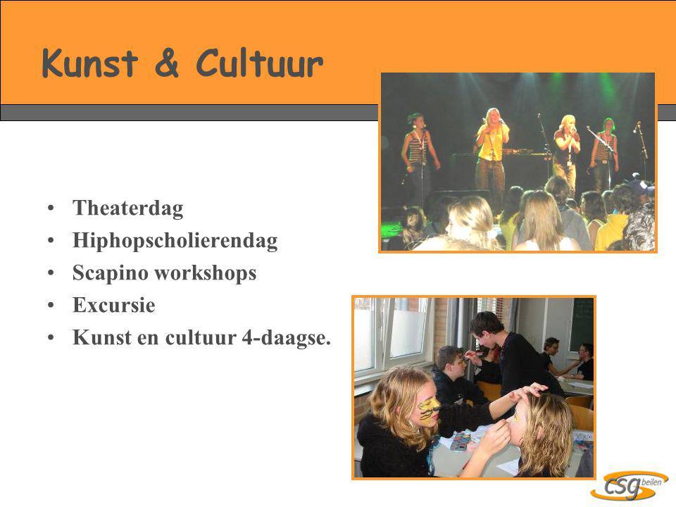 Kunst & Cultuur Theaterdag Hiphopscholierendag Scapino workshops