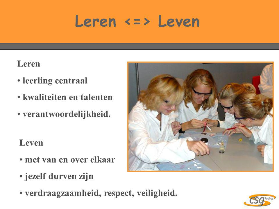 Leren <=> Leven Leren leerling centraal kwaliteiten en talenten