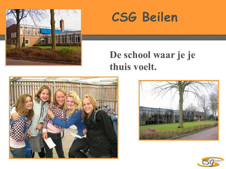 CSG Beilen De school waar je je thuis voelt.