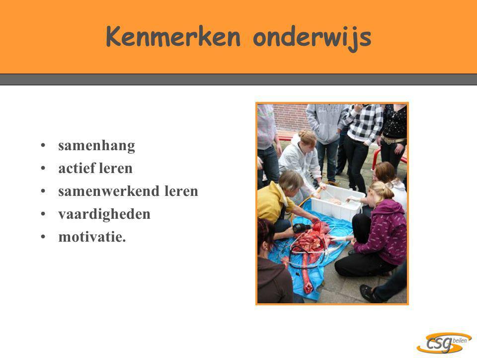 Kenmerken onderwijs samenhang actief leren samenwerkend leren