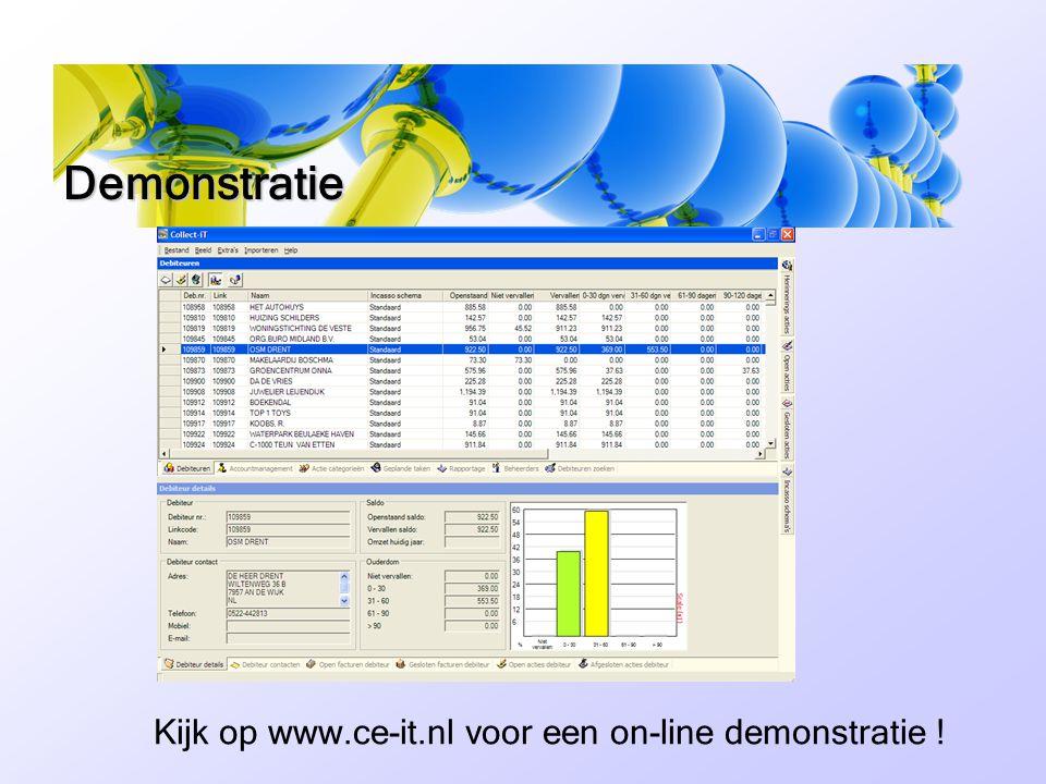 Kijk op www.ce-it.nl voor een on-line demonstratie !
