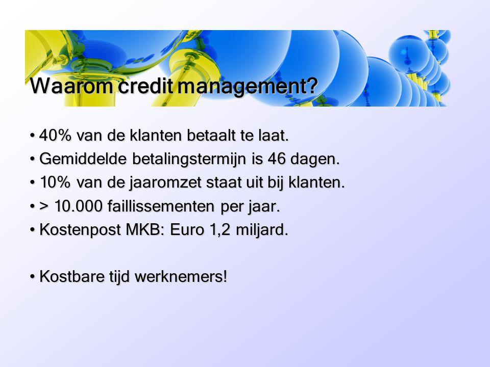Waarom credit management