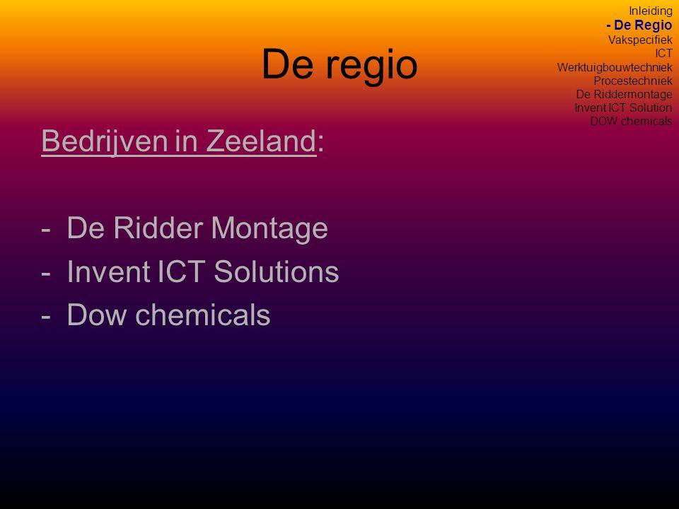 De regio Bedrijven in Zeeland: De Ridder Montage Invent ICT Solutions