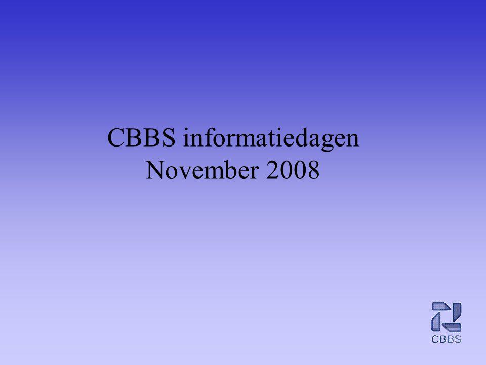 CBBS informatiedagen November 2008
