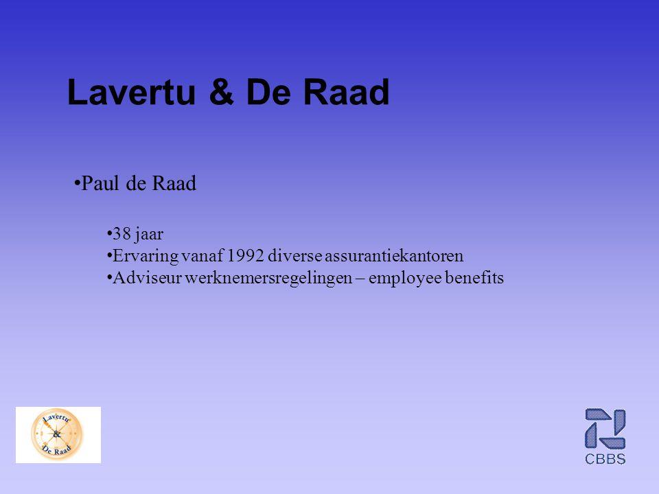 Lavertu & De Raad Paul de Raad 38 jaar