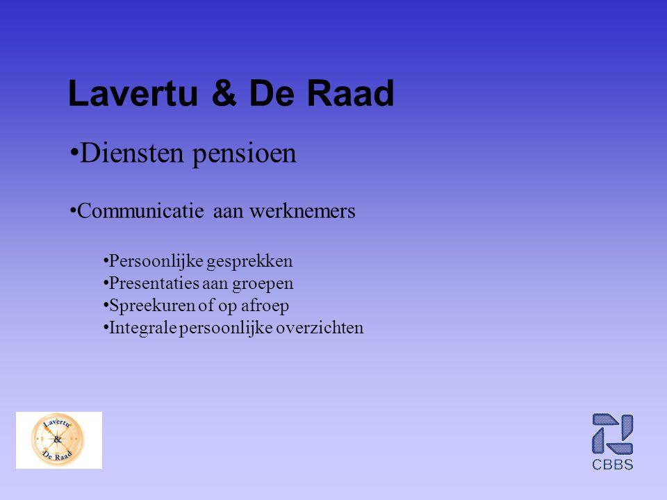 Lavertu & De Raad Diensten pensioen Communicatie aan werknemers