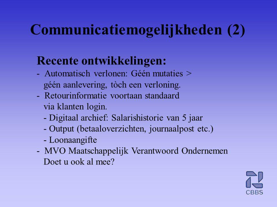 Communicatiemogelijkheden (2)