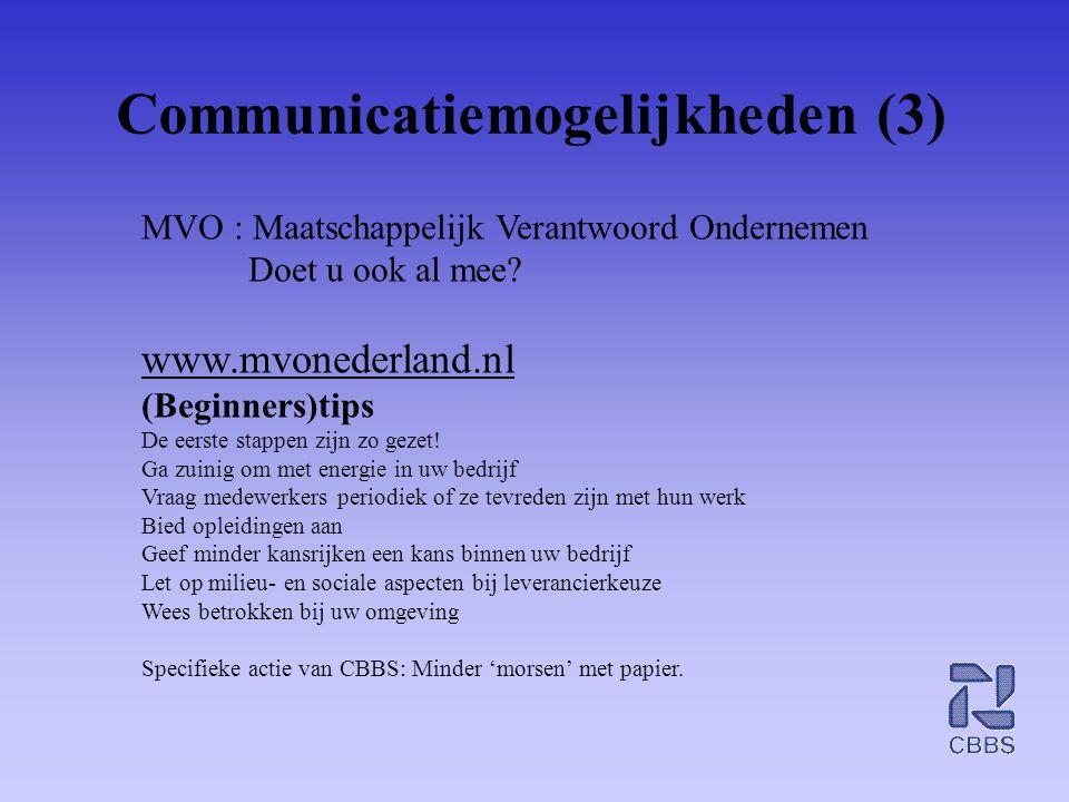 Communicatiemogelijkheden (3)