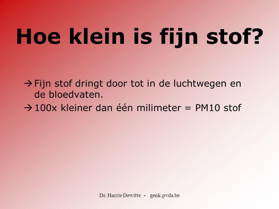 Dr. Harrie Dewitte - genk.pvda.be