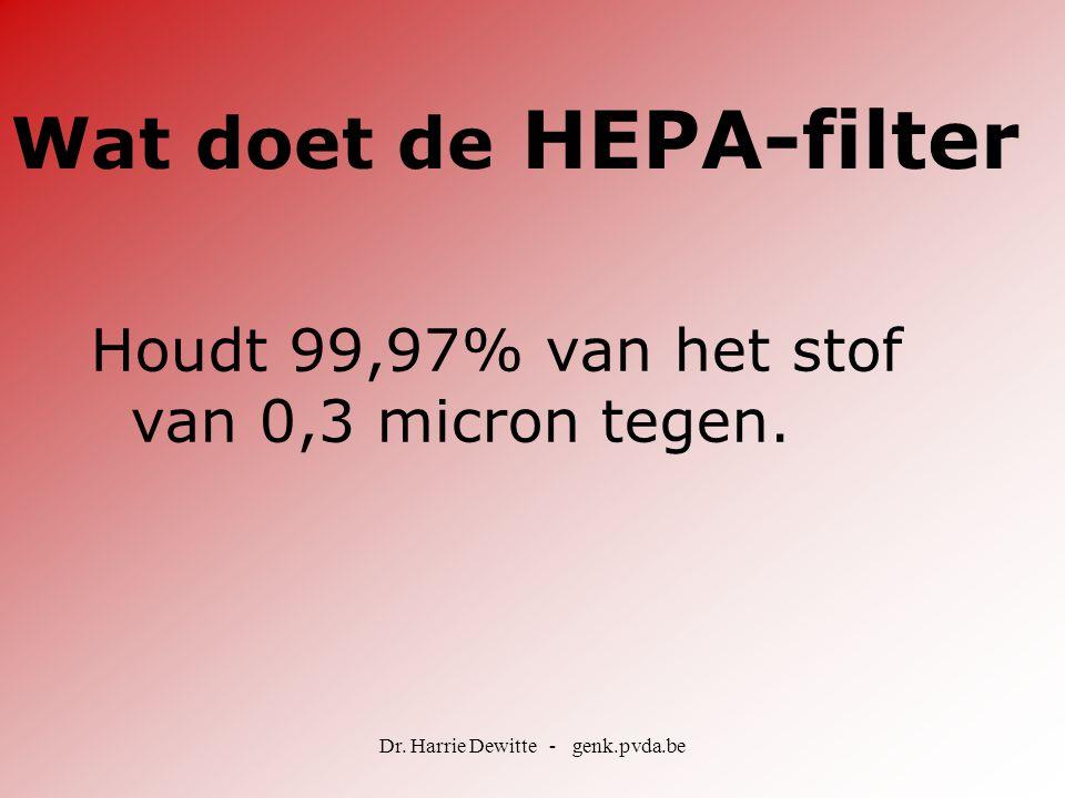 Wat doet de HEPA-filter