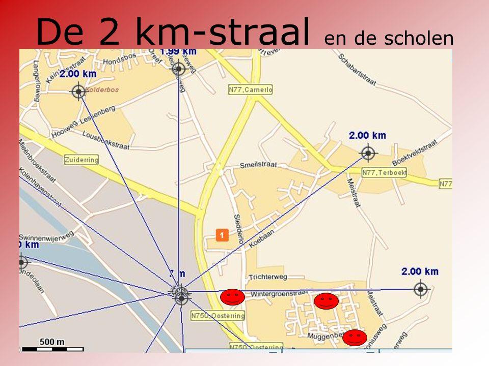 De 2 km-straal en de scholen