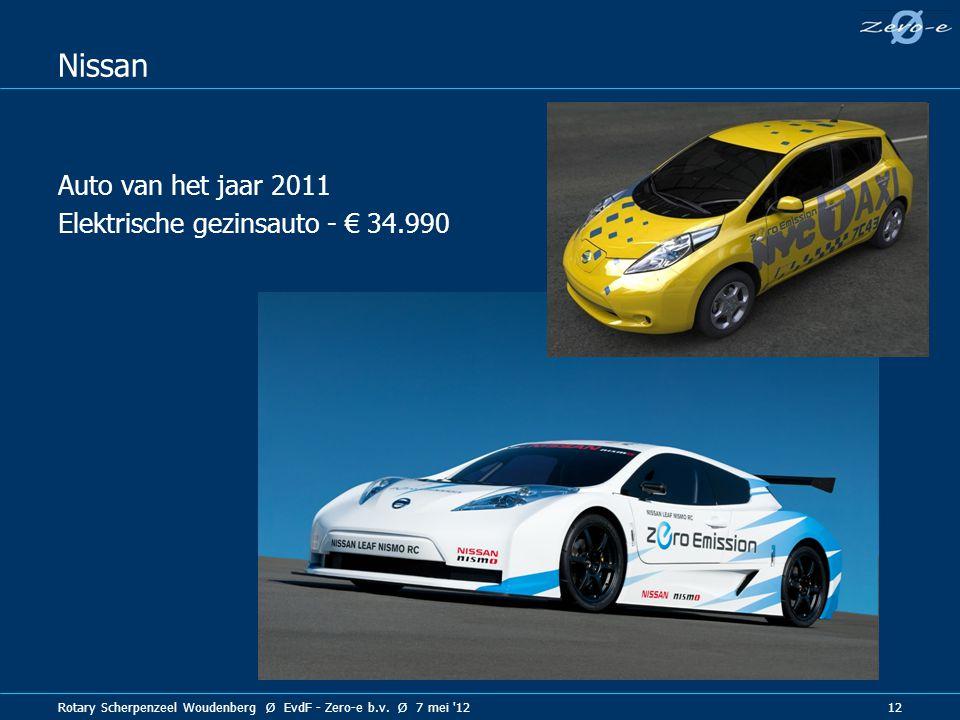 Nissan Auto van het jaar 2011 Elektrische gezinsauto - € 34.990