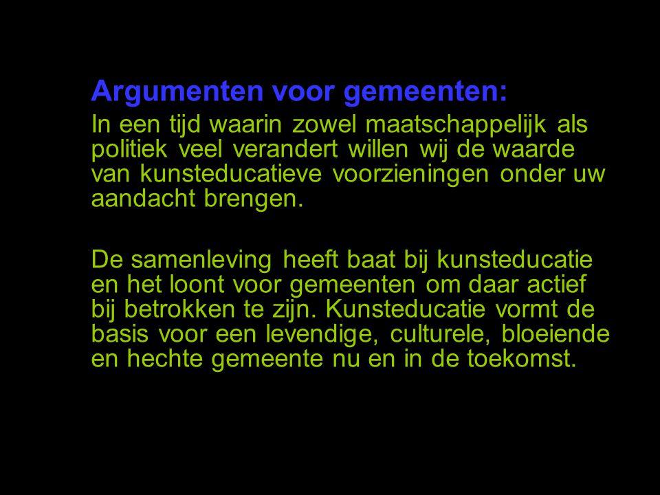 Argumenten voor gemeenten: