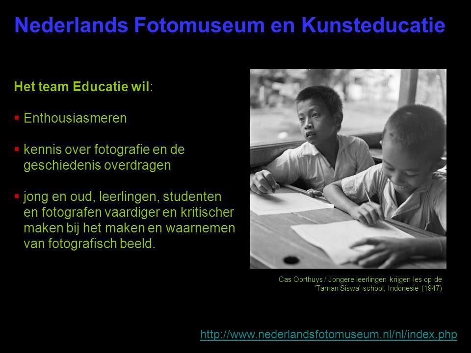 Nederlands Fotomuseum en Kunsteducatie