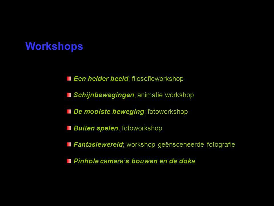 Workshops Een helder beeld; filosofieworkshop