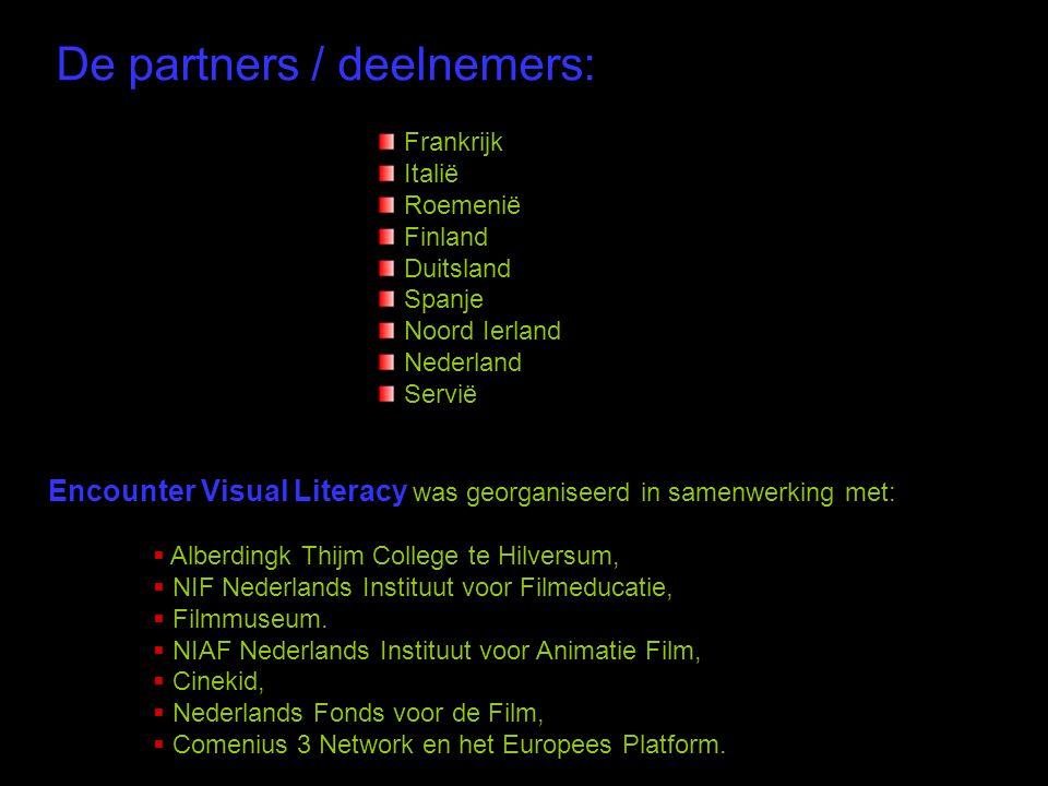 De partners / deelnemers: