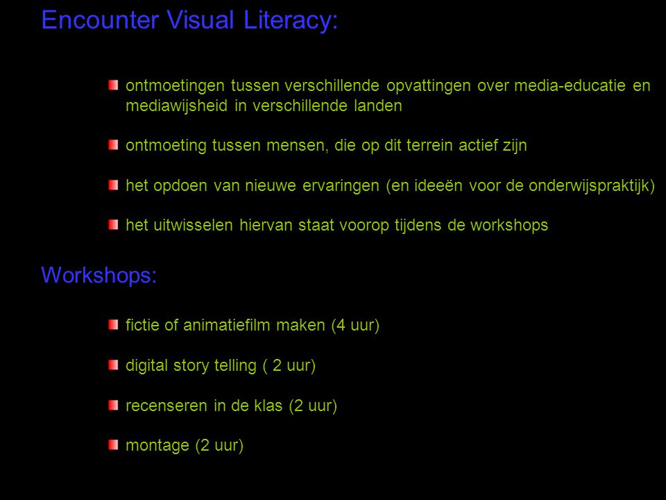Encounter Visual Literacy: