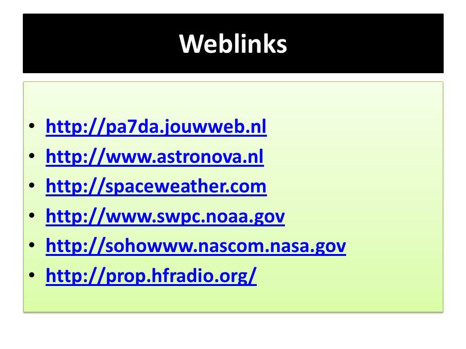 Weblinks http://pa7da.jouwweb.nl http://www.astronova.nl
