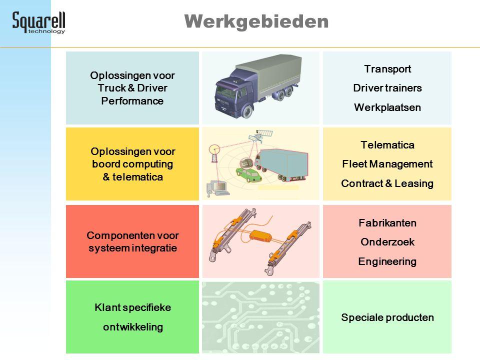 Werkgebieden Transport Oplossingen voor Truck & Driver Performance