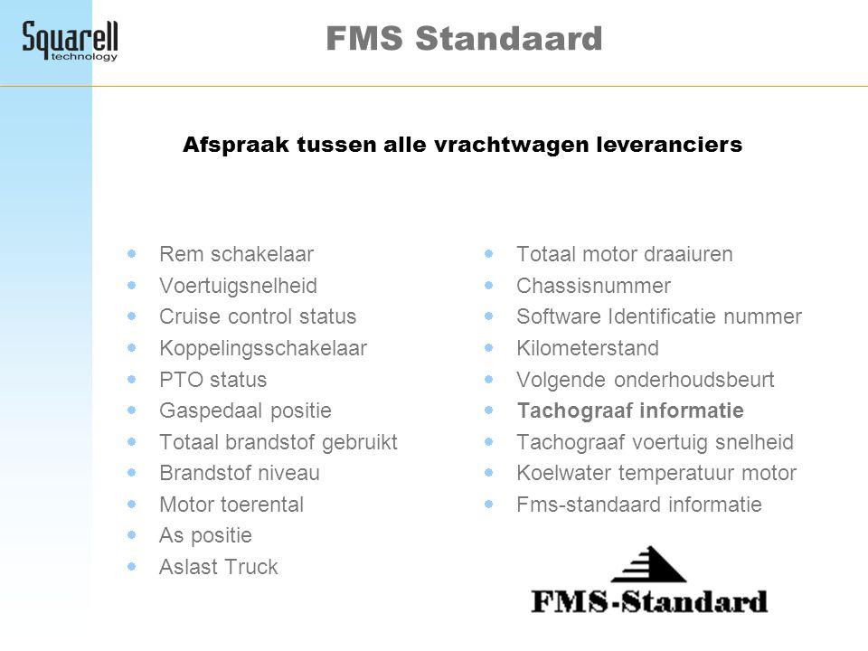 FMS Standaard Afspraak tussen alle vrachtwagen leveranciers