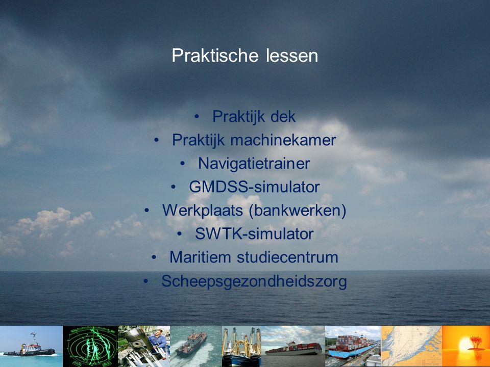 Praktische lessen Praktijk dek Praktijk machinekamer Navigatietrainer