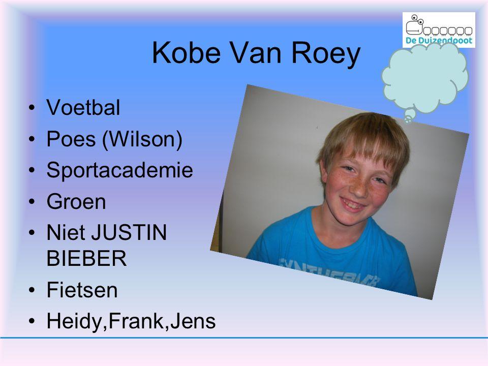 Kobe Van Roey Voetbal Poes (Wilson) Sportacademie Groen