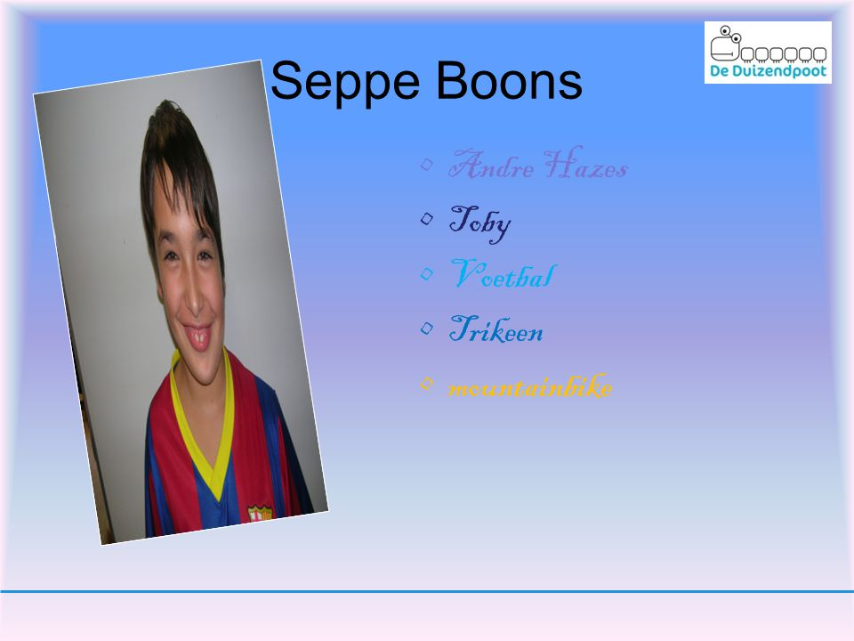 Seppe Boons Andre Hazes Toby Voetbal Trikeen mountainbike