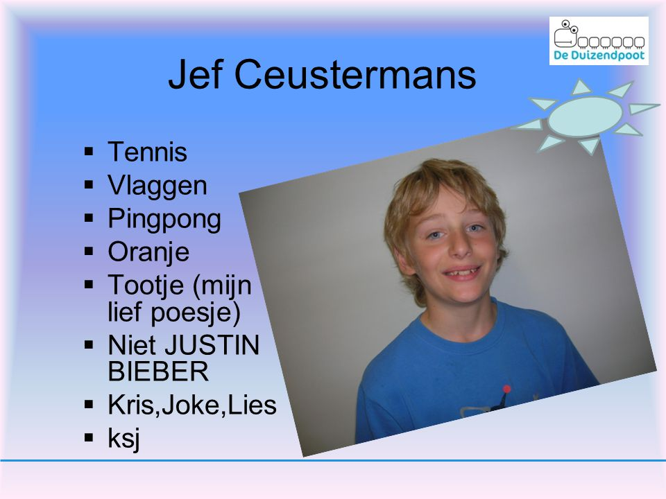 Jef Ceustermans Tennis Vlaggen Pingpong Oranje
