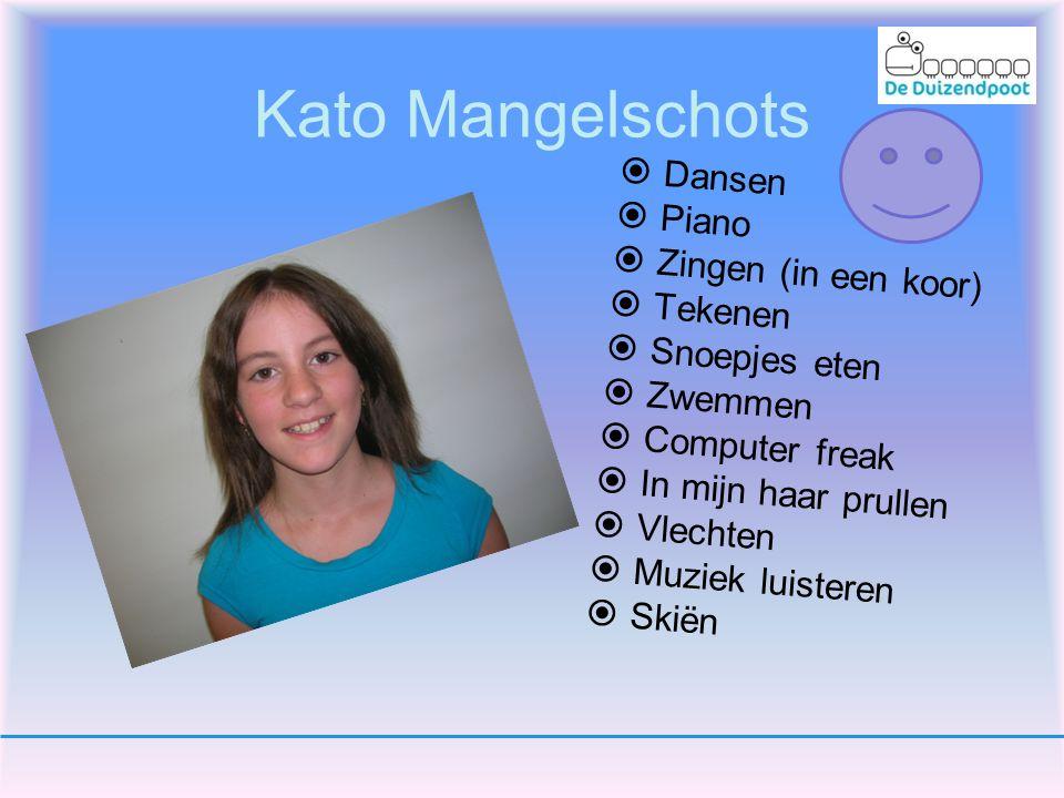 Kato Mangelschots Dansen Piano Zingen (in een koor) Tekenen