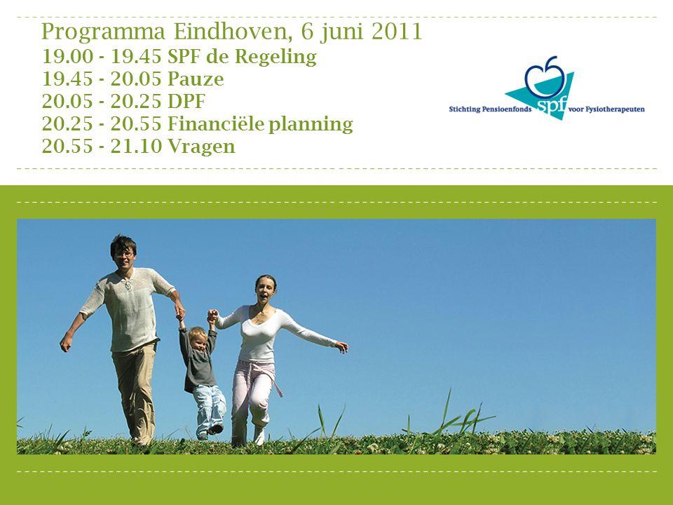 Programma Eindhoven, 6 juni 2011 19. 00 - 19. 45 SPF de Regeling 19
