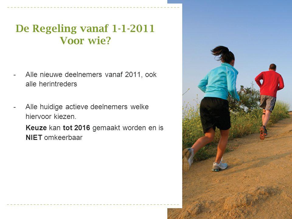 De Regeling vanaf 1-1-2011 Voor wie