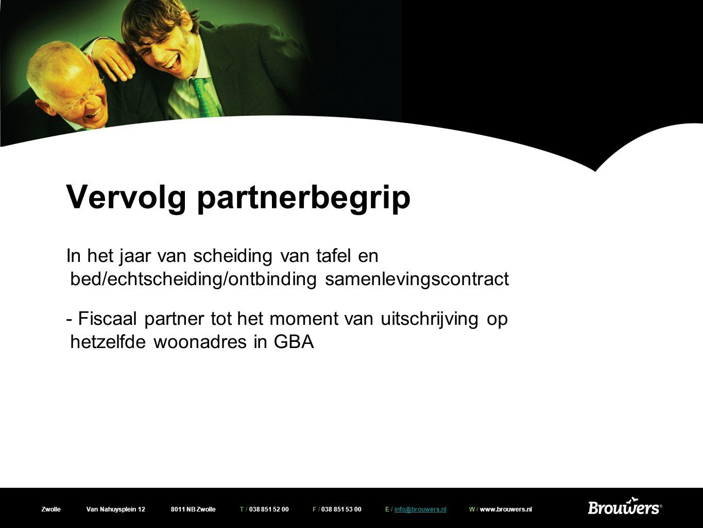 Vervolg partnerbegrip