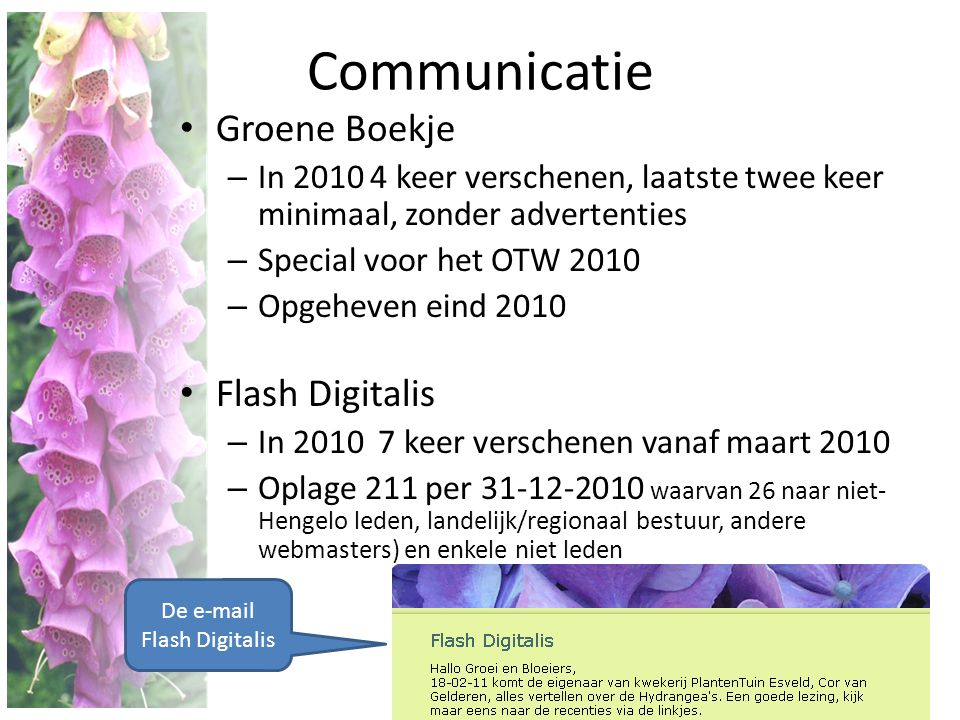 De e-mail Flash Digitalis