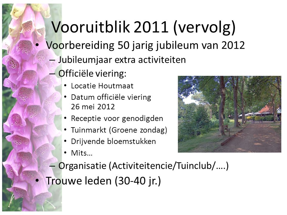 Vooruitblik 2011 (vervolg)