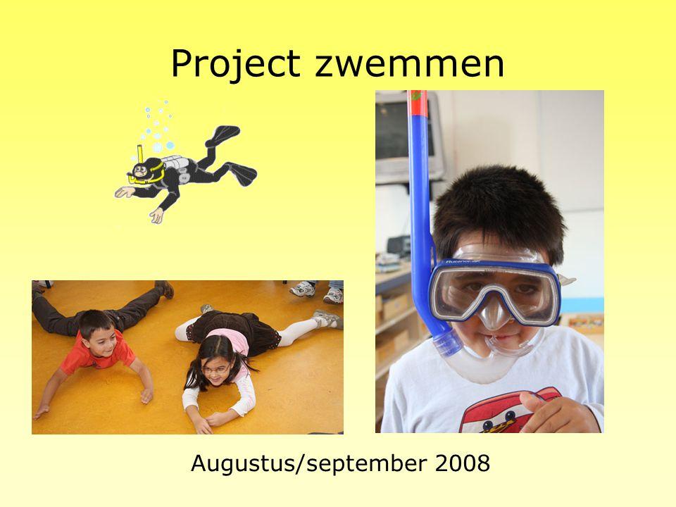 Project zwemmen Augustus/september 2008