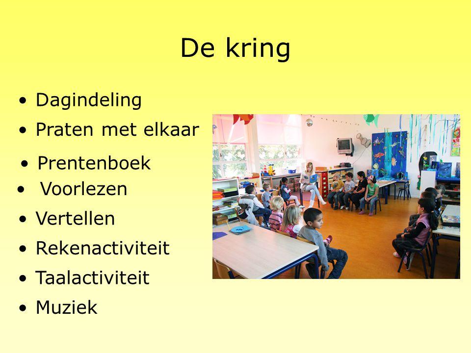 De kring Dagindeling Praten met elkaar Prentenboek Voorlezen Vertellen