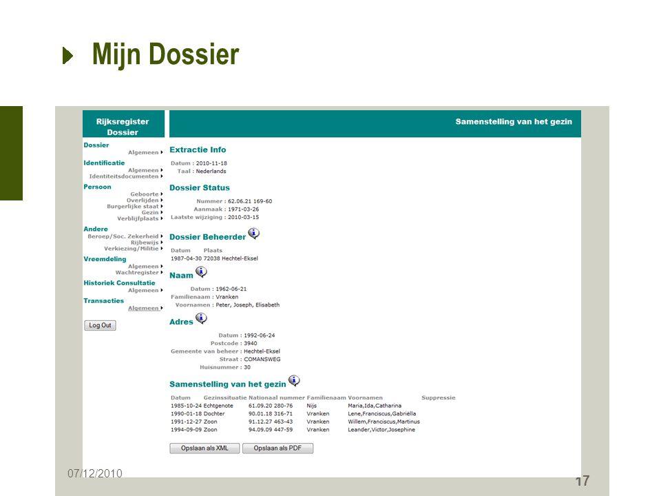 Mijn Dossier 07/12/2010