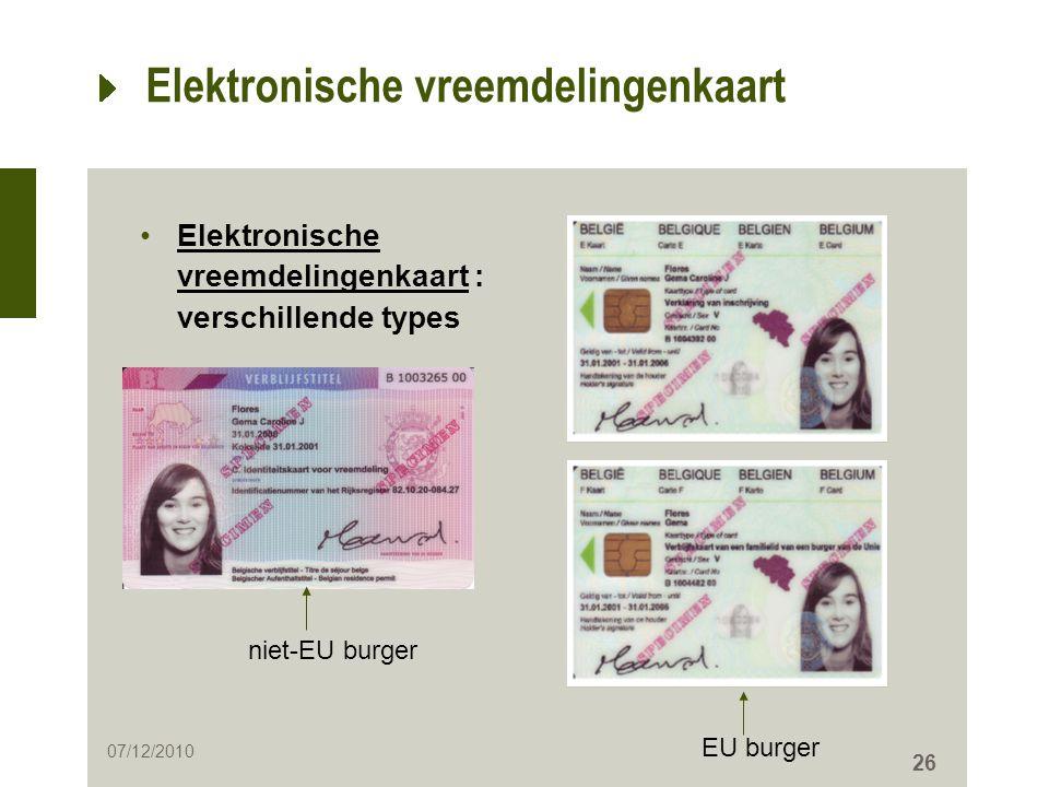 Elektronische vreemdelingenkaart