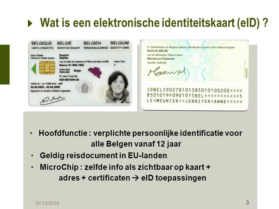 Wat is een elektronische identiteitskaart (eID)