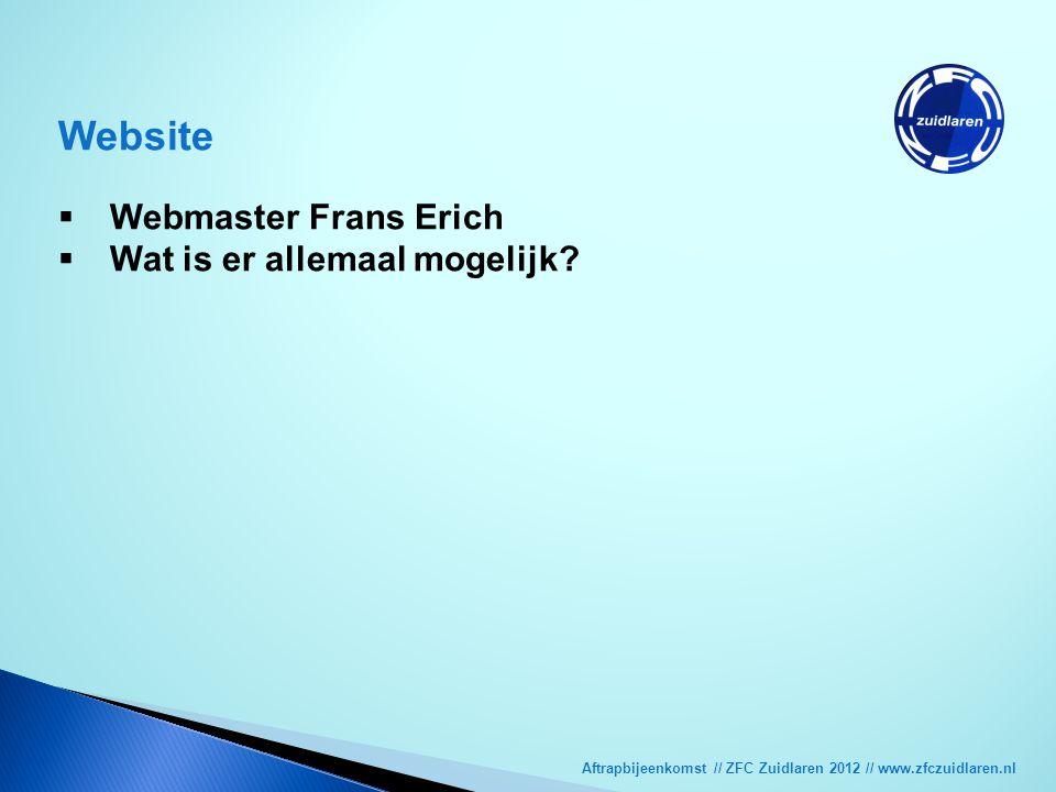 Website Webmaster Frans Erich Wat is er allemaal mogelijk