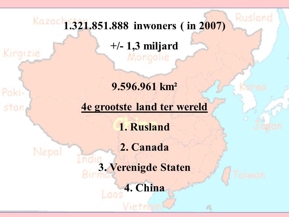4e grootste land ter wereld