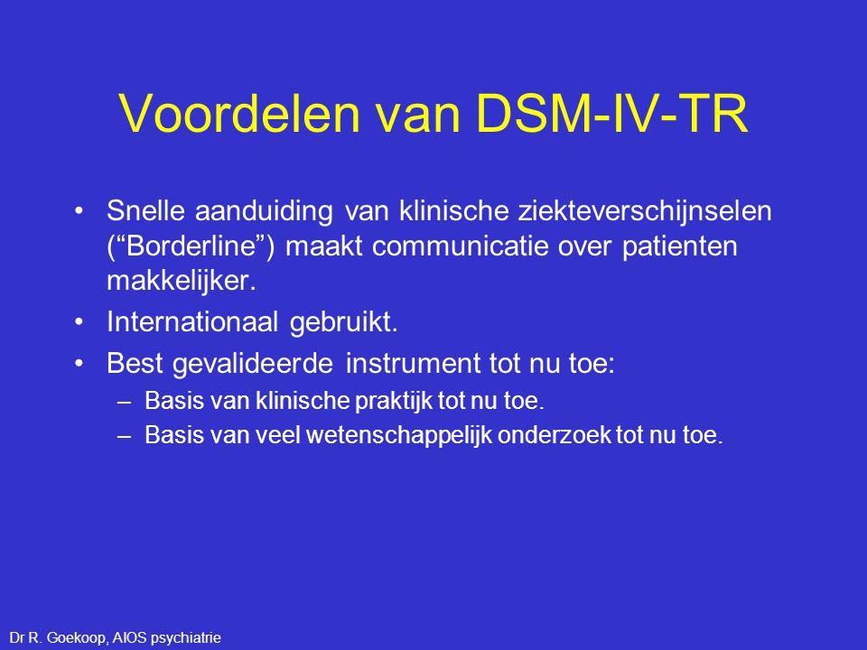 Voordelen van DSM-IV-TR