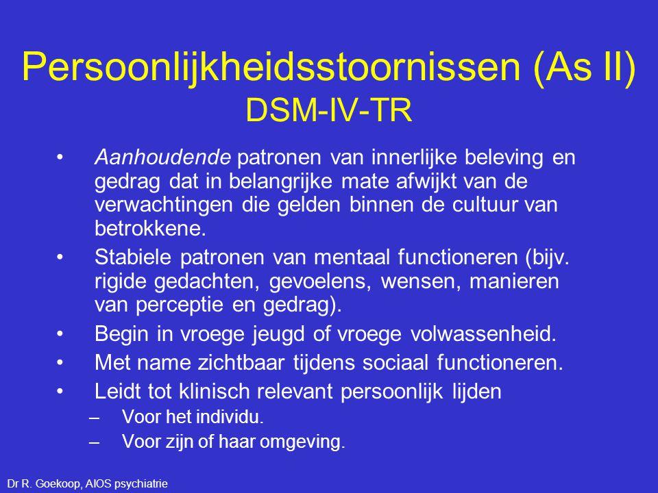Persoonlijkheidsstoornissen (As II) DSM-IV-TR