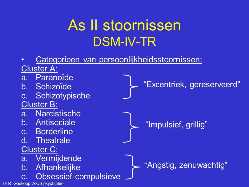 As II stoornissen DSM-IV-TR