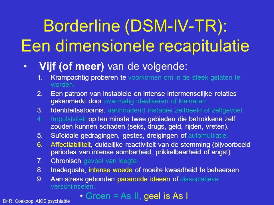 Borderline (DSM-IV-TR): Een dimensionele recapitulatie