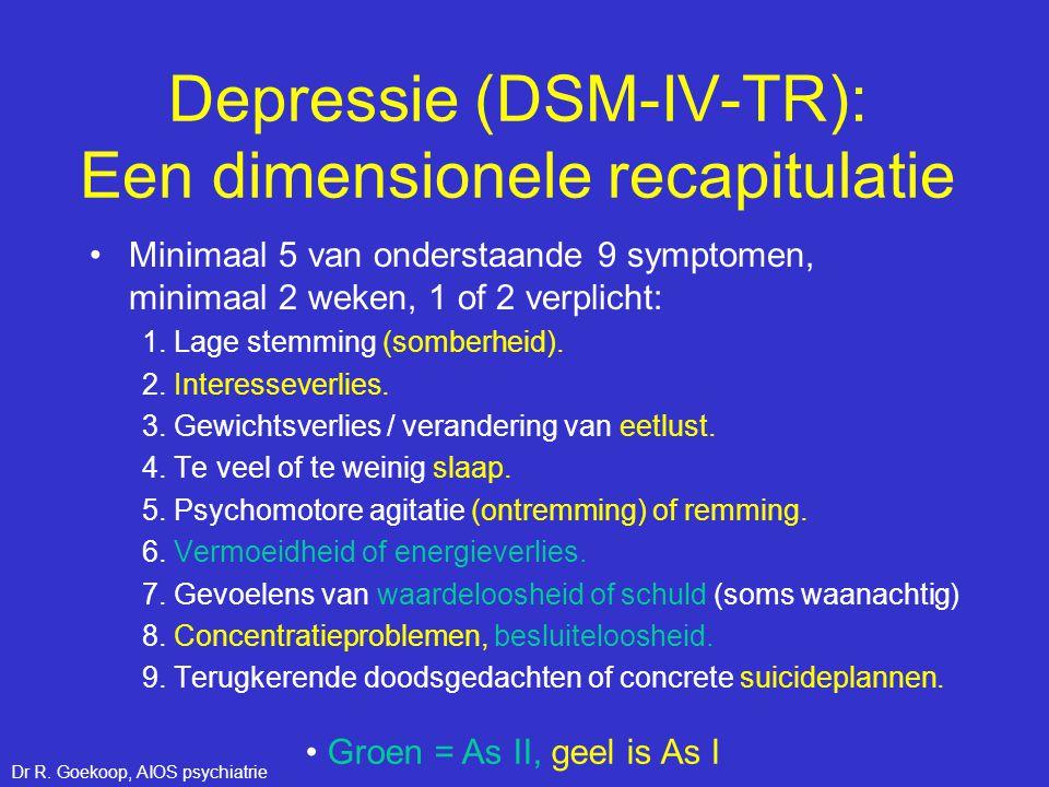Depressie (DSM-IV-TR): Een dimensionele recapitulatie
