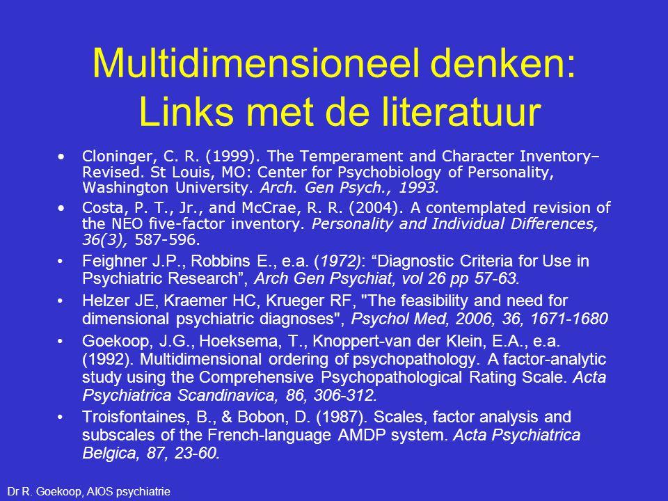 Multidimensioneel denken: Links met de literatuur