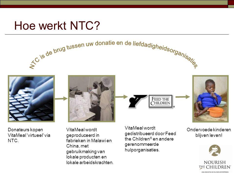 Hoe werkt NTC NTC is de brug tussen uw donatie en de liefdadigheidsorganisaties.